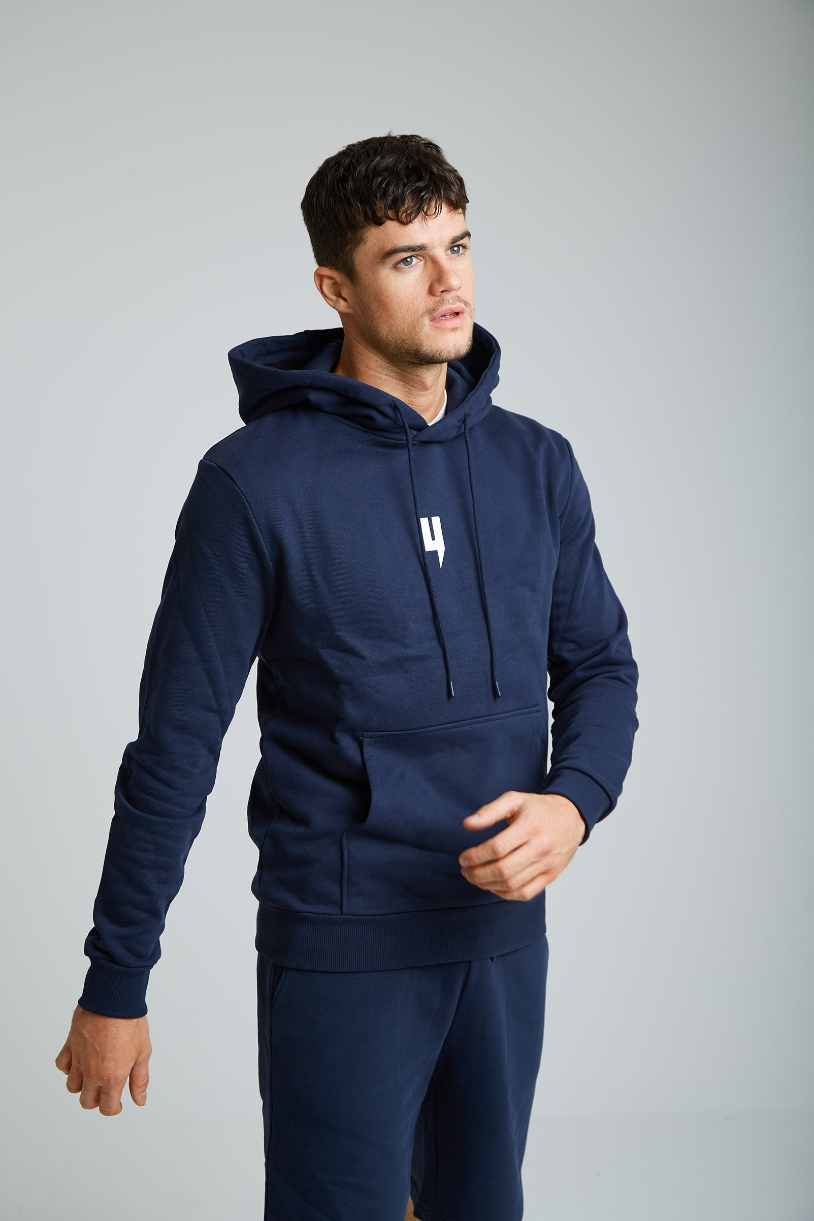 YELIR WORLD Y LOGO HOODY NAVY/WHITE