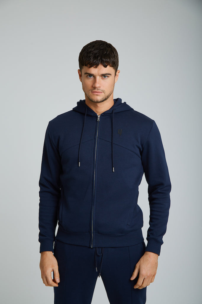 YELIR WORLD PINTUCK HOODY NAVY