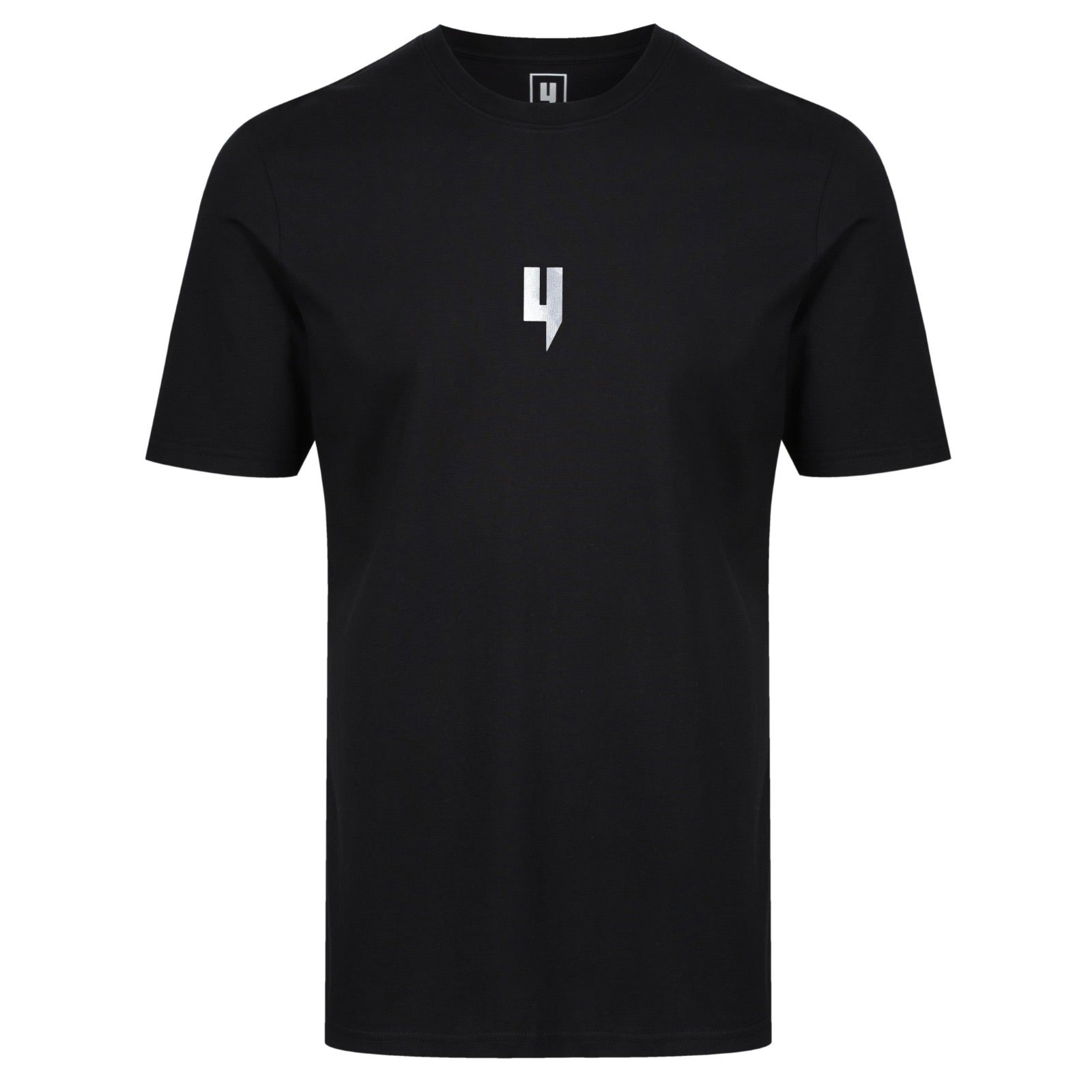 YELIR WORLD Y LOGO REFLECTIVE TEE BLACK