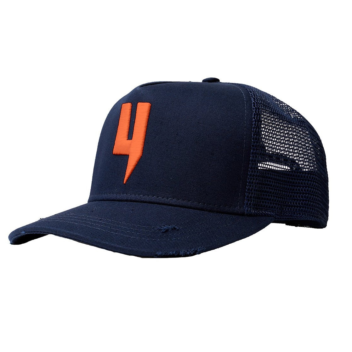 YELIR WORLD Y LOGO CAP NAVY NEON ORANGE