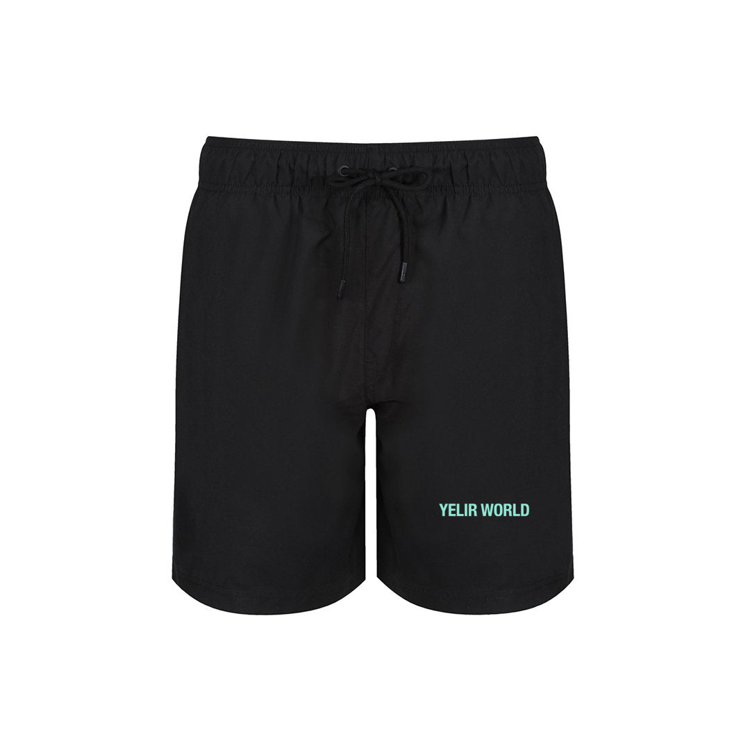 YELIR WORLD LOYALTY CLUB SWIM SHORTS BLACK MINT