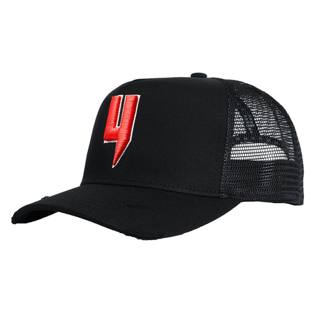 Y LOGO CAP BLACK RED Y