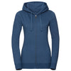 Women's authentic melange zipped hood sweatshirt