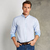 Clayton & Ford micro check shirt long sleeve