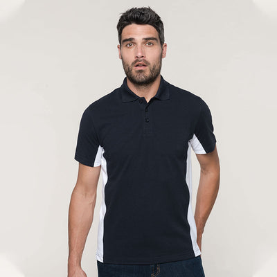 Flags short sleeve bi-colour polo shirt