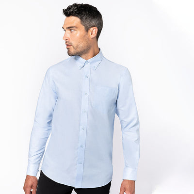 Long-sleeved easycare Oxford shirt