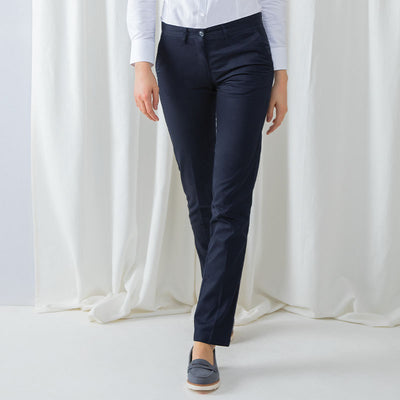 Women's 65/35 flat fronted chino trousers