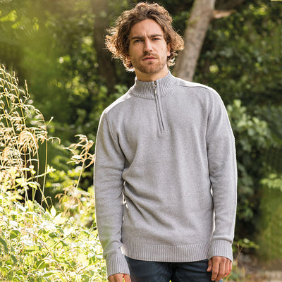 Wakhan ¼ regen zip knit sweater