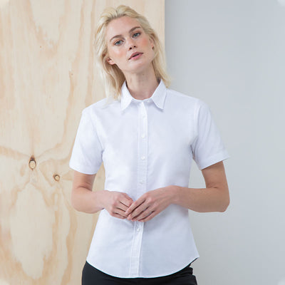Women's short sleeve classic Oxford shirt