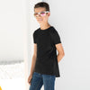 Kids longline T with dipped hem
