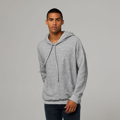 Unisex sueded fleece pullover hoodie