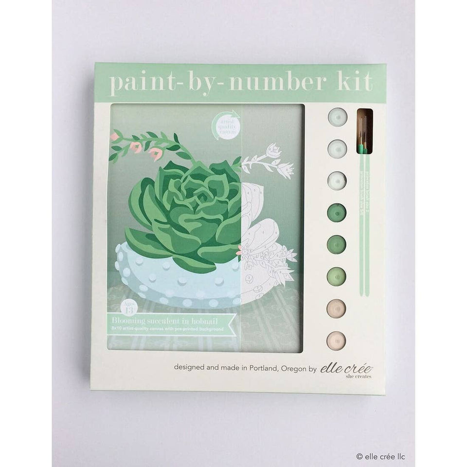 Feel Energized with the Blooming Succulent Paint-by-Number Kit