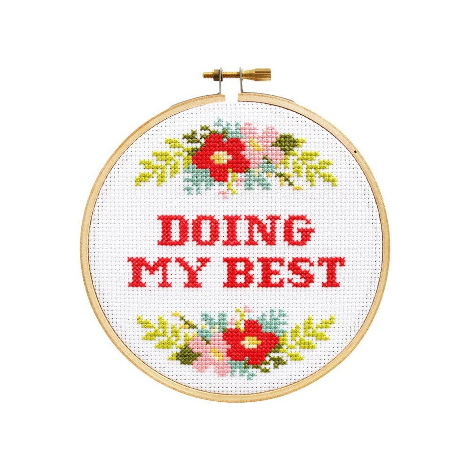 Stay Motivated with the Doing My Best Cross Stitch Kit