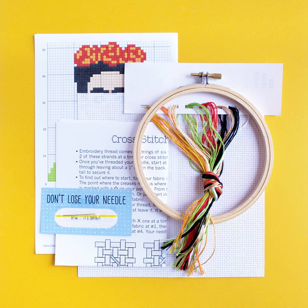 Feel Empowered by the Frida Kahlo Cross Stitch Kit