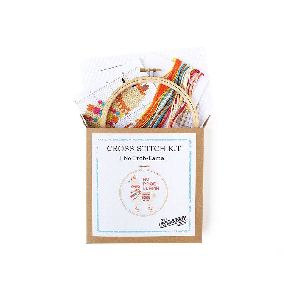De-stress with the No Prob Llama Cross Stitch Kit