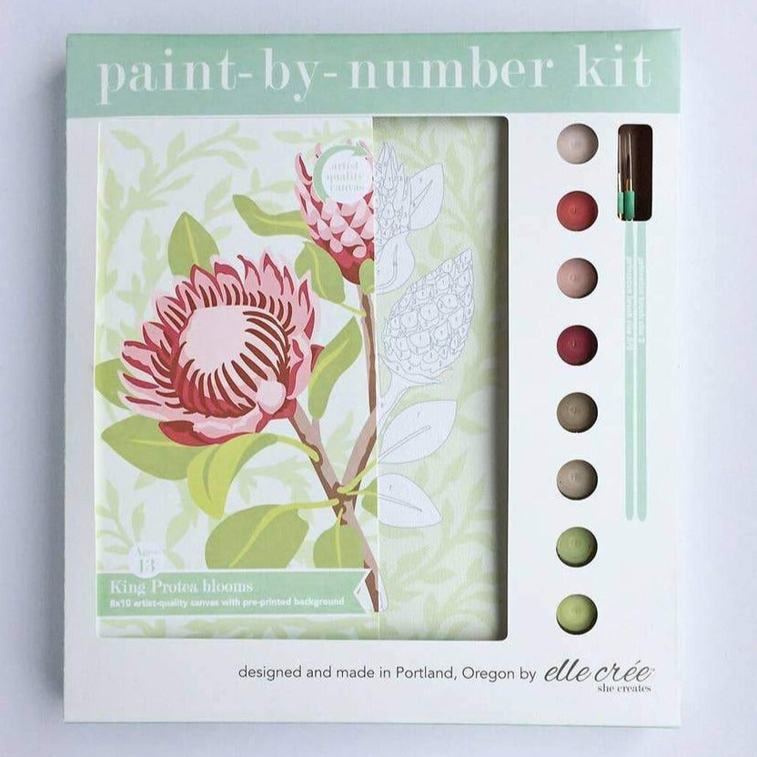 Get Artsy with the King Protea Blooms Paint-by-Number Kit