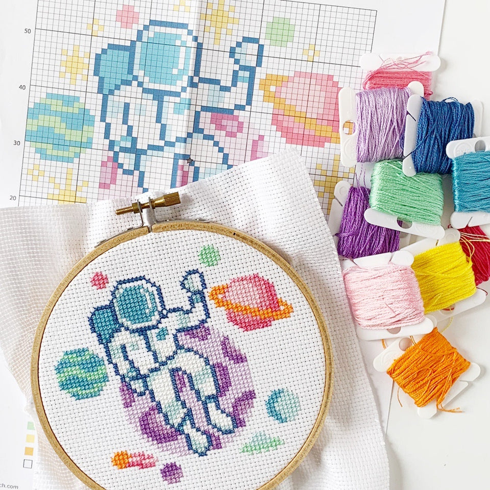 Space Explorer Cross Stitch Kit