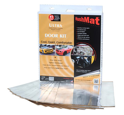 "HushMat Ultra Door Kit Silver-ten 12""x12"" Sheets (10 sq. ft.) - AbillionZ"