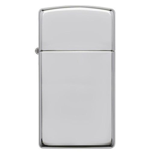 Zippo Windproof Lighter Slim Case High Polish Sterling Silver