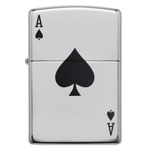 Zippo Windproof Lighter Simple Spade Design High Polish Chrome