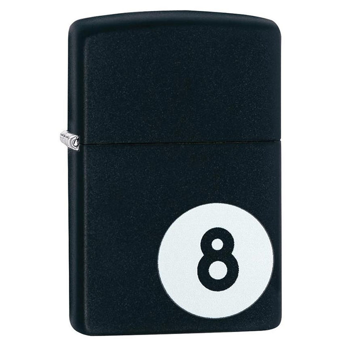 Zippo Windproof Lighter Billiards 8-Ball Black Matte - AbillionZ