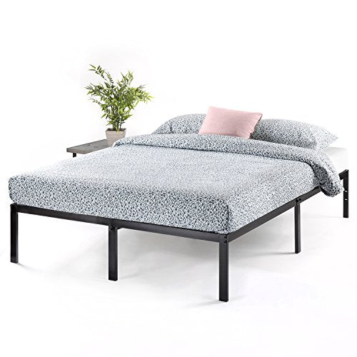 (local pick only) Best Price Mattress 14 Inch Metal Platform Beds w/ Heavy Duty Steel Slat Mattress Foundation (No Box Spring Needed), Black - AbillionZ