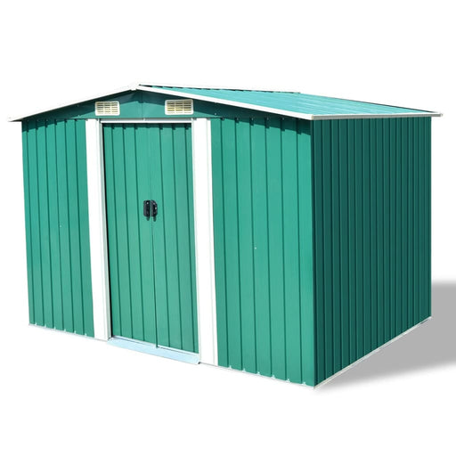 "AbillionZ Collection Garden Storage Shed Green Metal 101.2""x80.7""x70.1"" - AbillionZ"