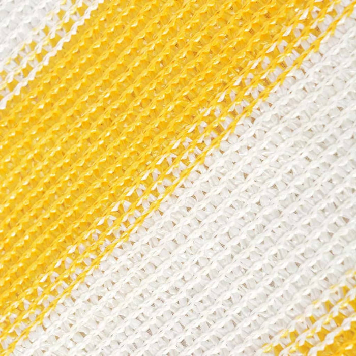 "AbillionZ Collection Balcony Screen HDPE 35.4""x236.2"" Yellow and White - AbillionZ"