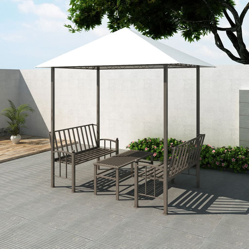 AbillionZ Collection Garden Pavilion with Table and Benches 8.2'x4.9'x7.9' - AbillionZ