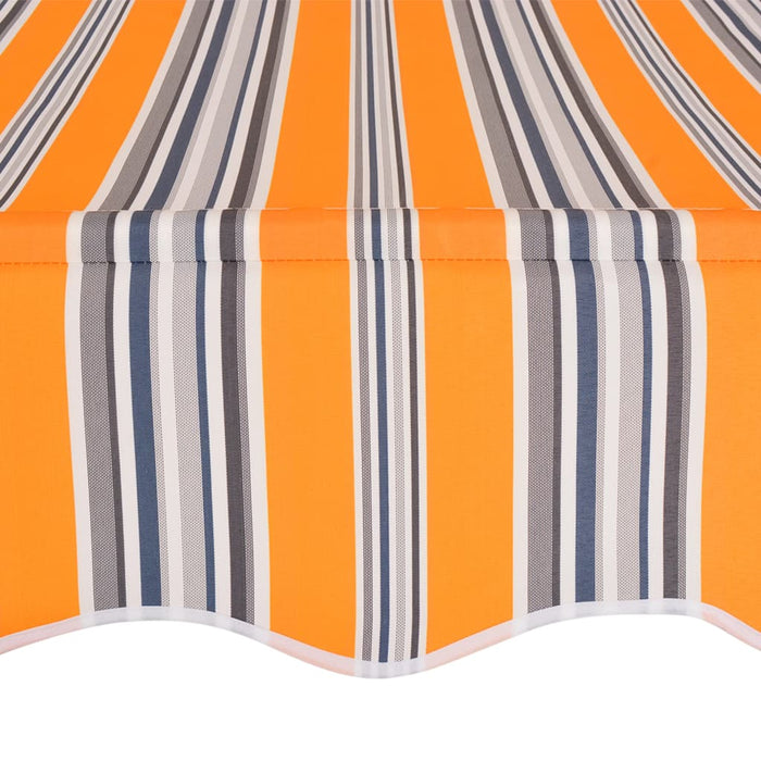 "AbillionZ Collection Manual Retractable Awning 118.1"" Yellow and Blue Stripes - AbillionZ"