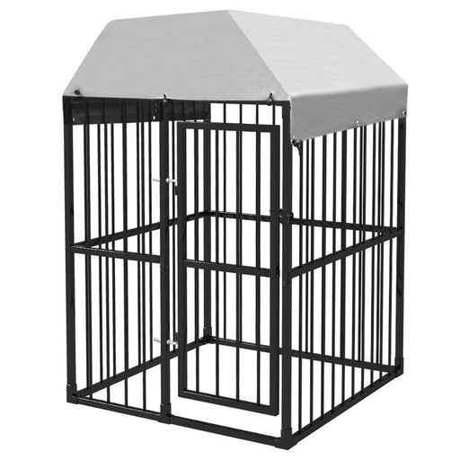 AbillionZ Collection Heavy-Duty Outdoor Dog Kennel with Roof 4'x4'x6.2' - AbillionZ