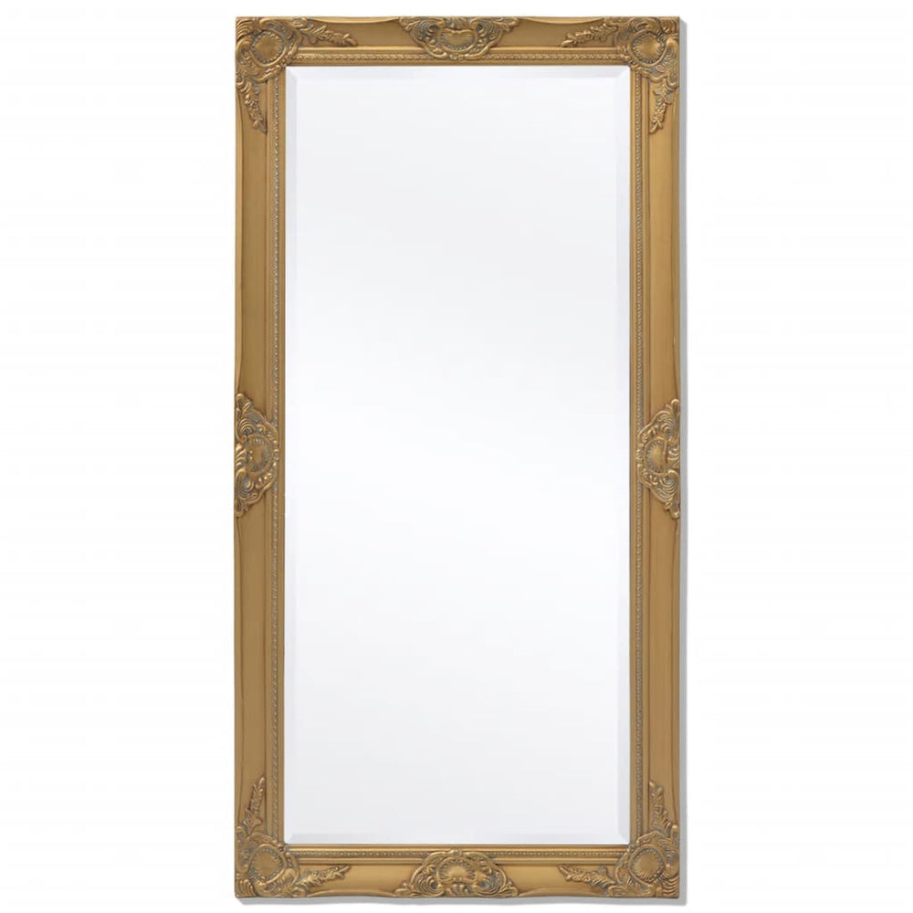 "AbillionZ Collection Wall Mirror Baroque Style 47.2""x23.6"" Gold - AbillionZ"