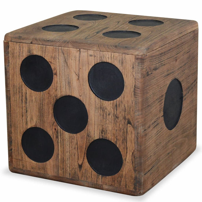 "AbillionZ Collection Storage Box Mindi Wood 15.7""x15.7""x15.7"" Dice Design - AbillionZ"