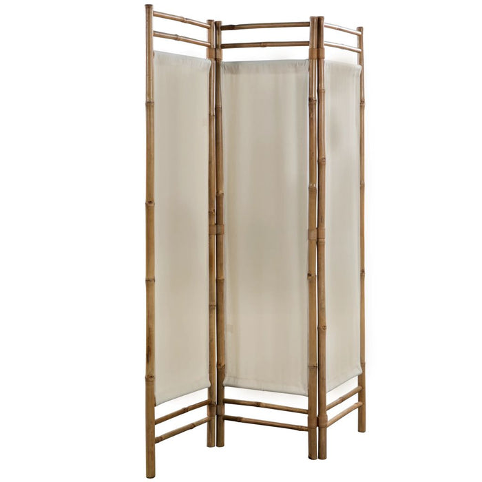"AbillionZ Collection Folding 3-Panel Room Divider Bamboo and Canvas 47.2"" - AbillionZ"