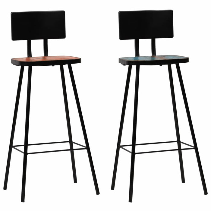 AbillionZ Collection Bar Chairs 2 pcs Solid Reclaimed Wood - AbillionZ