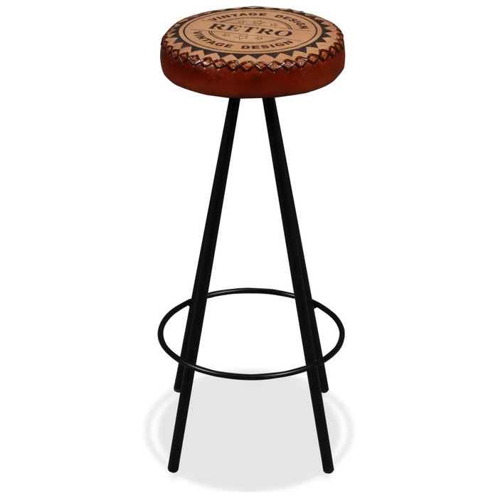 AbillionZ Collection Bar Stools 2 pcs Real Leather - AbillionZ