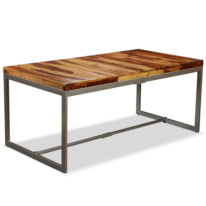 "AbillionZ Collection Dining Table Solid Sheesham Wood and Steel 70.9"" - AbillionZ"