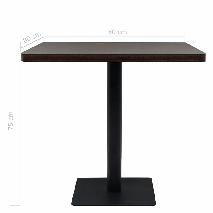 "AbillionZ Collection Bistro Table MDF and Steel Square 31.5""x31.5""x29.5"" Dark Ash - AbillionZ"