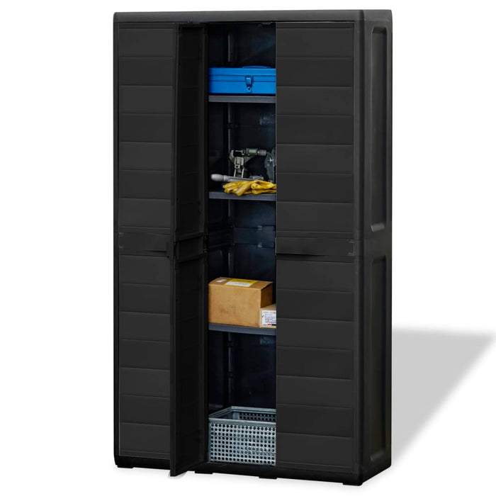 AbillionZ Collection Garden Storage Cabinet with 4 Shelves Black - AbillionZ