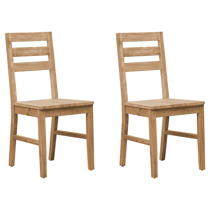 AbillionZ Collection Dining Chairs 2 pcs Solid Acacia Wood