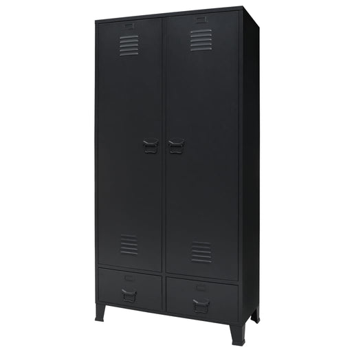 "AbillionZ Collection Wardrobe Metal Industrial Style 35.4""x15.7""x70.9"" Black - AbillionZ"