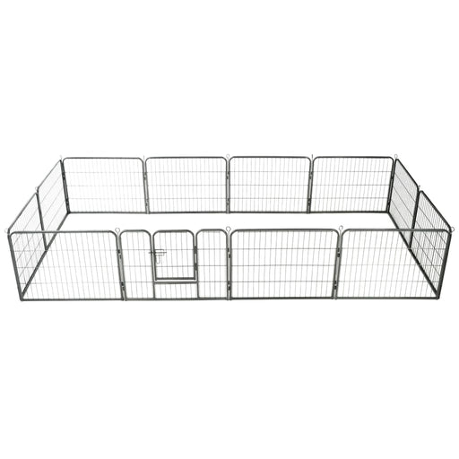"AbillionZ Collection Dog Playpen 12 Panels Steel 31.5""x23.6"" Black - AbillionZ"