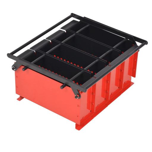 "AbillionZ Collection Paper Log Briquette Maker Steel 15""x12.2""x7.1"" Black and Red - AbillionZ"