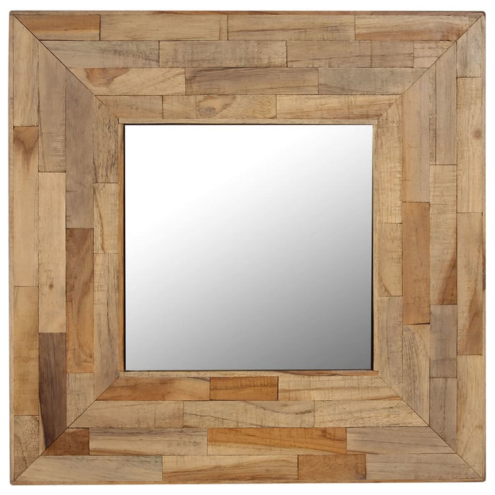 "AbillionZ Collection Mirror Reclaimed Teak 19.6""x19.6"" - AbillionZ"