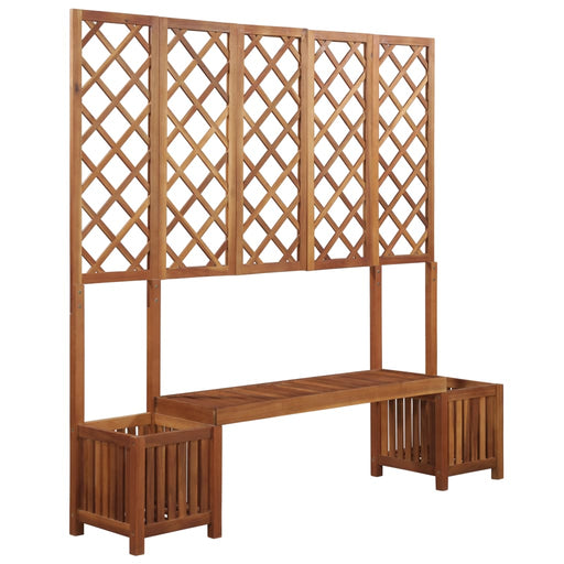 AbillionZ Collection Garden Planter with Bench and Trellis Solid Acacia Wood - AbillionZ