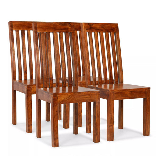 AbillionZ Collection Dining Chairs 4 pcs Solid Wood with Sheesham Finish Modern - AbillionZ