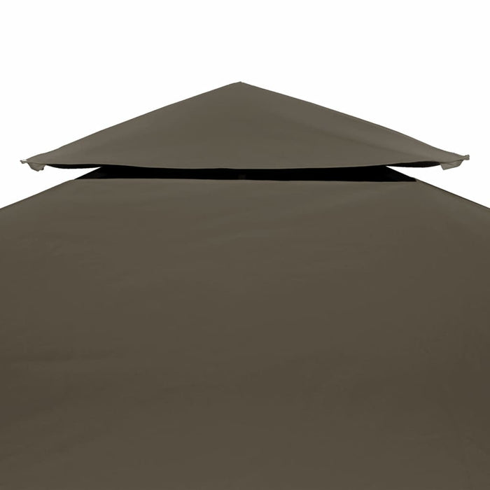 "AbillionZ Collection 2-Tier Gazebo Top Cover 0.68lb/m² 157.5""x118.1"" Taupe - AbillionZ"