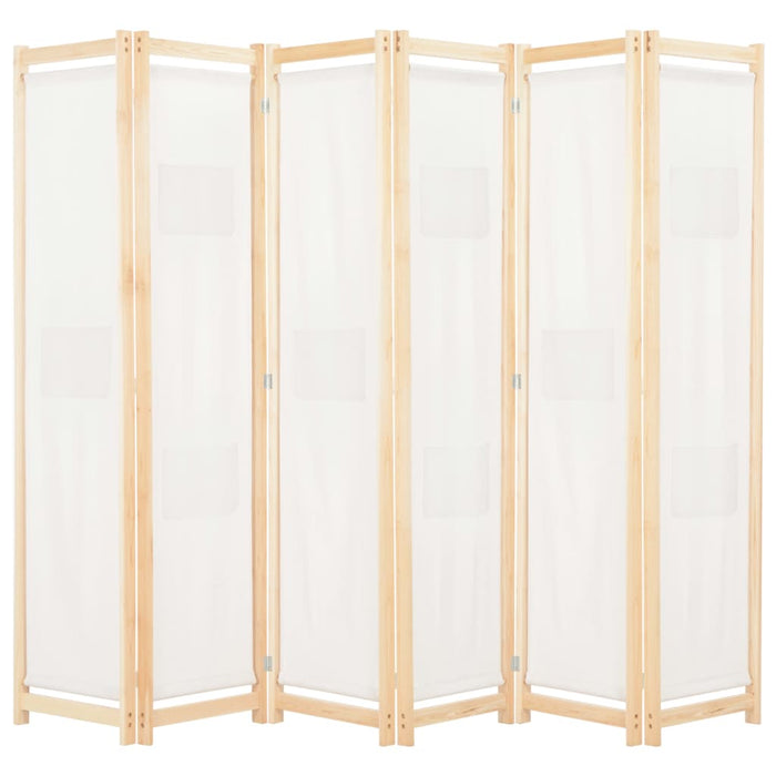 "AbillionZ Collection 6-Panel Room Divider Cream 94.5""x66.9""x1.6"" Fabric - AbillionZ"