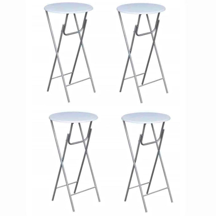 AbillionZ Collection Bar Tables 4 pcs with MDF Tabletop White