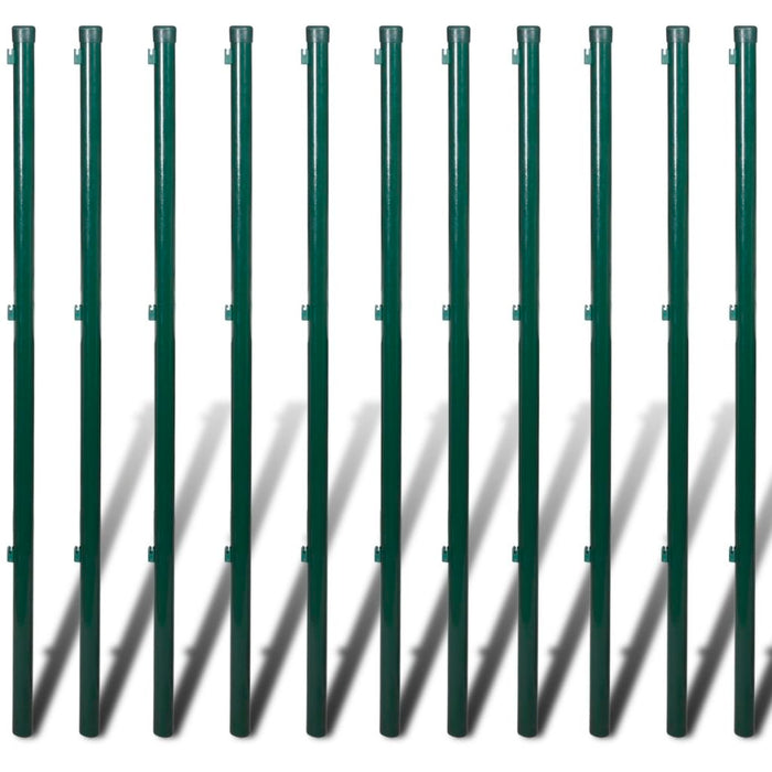 "AbillionZ Collection Chain Link Fence with Posts Steel 2' 7"" x 82' Green - AbillionZ"